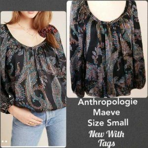 Anthropologie Colorful Boho Top